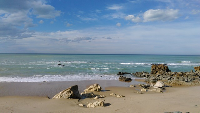 Vers la plage de la Milady