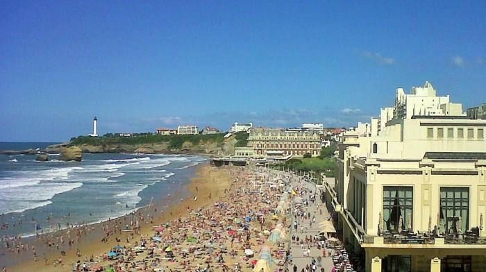 Biarritz, côté Grande Plage (photo de l'auteur)