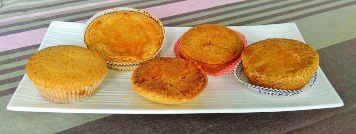 De gauche à droite les gâteaux de Maquirrain, Paries, Miremont, Adam et Loubère (© Yannick Revel)