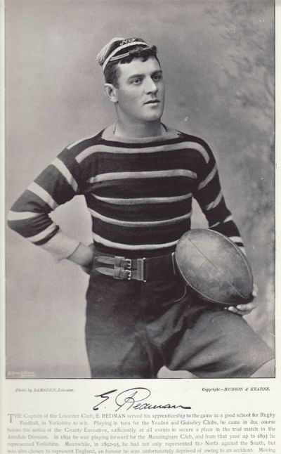 E. Redman, capitaine de Leicester en 1895. (photo trouvée sur rugby-pioneers.com)