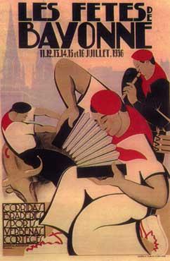 L'affiche des Fêtes de Bayonne 1936