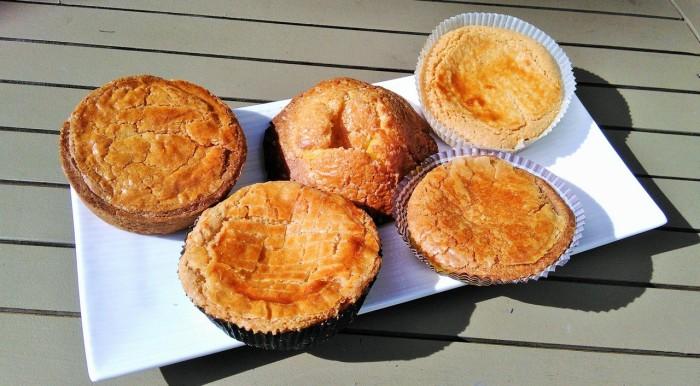 De gauche à droite, les gâteaux de Mokofin, Lionel Raux, Mauriac, L'Amiette et Paries (© Yannick Revel)
