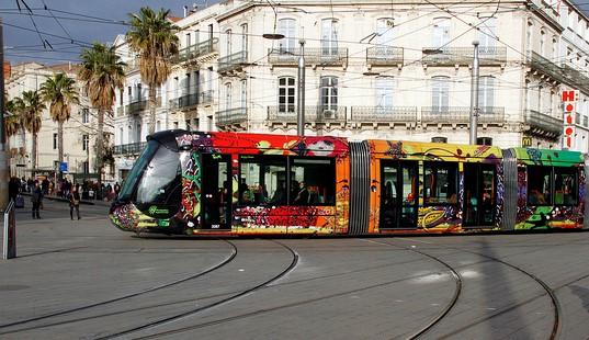 Le tramway coloré de Montpellier (© Isabelle Blanchemain)