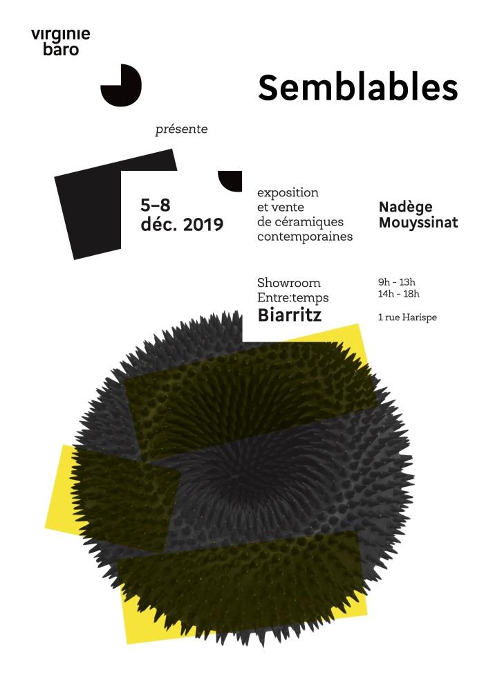 RECTO Flyer - Exposition Semblables, Nade ̀ge Mouyssinat, galerie Virginie Baro